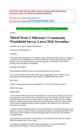 community nursing windshield survey