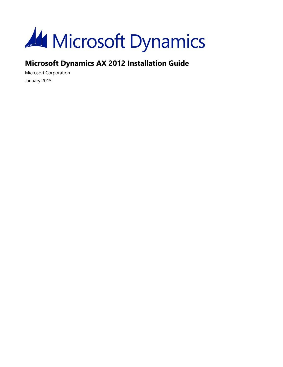 Microsoft Dynamics AX 2012 - Installation guide by ANEGIS