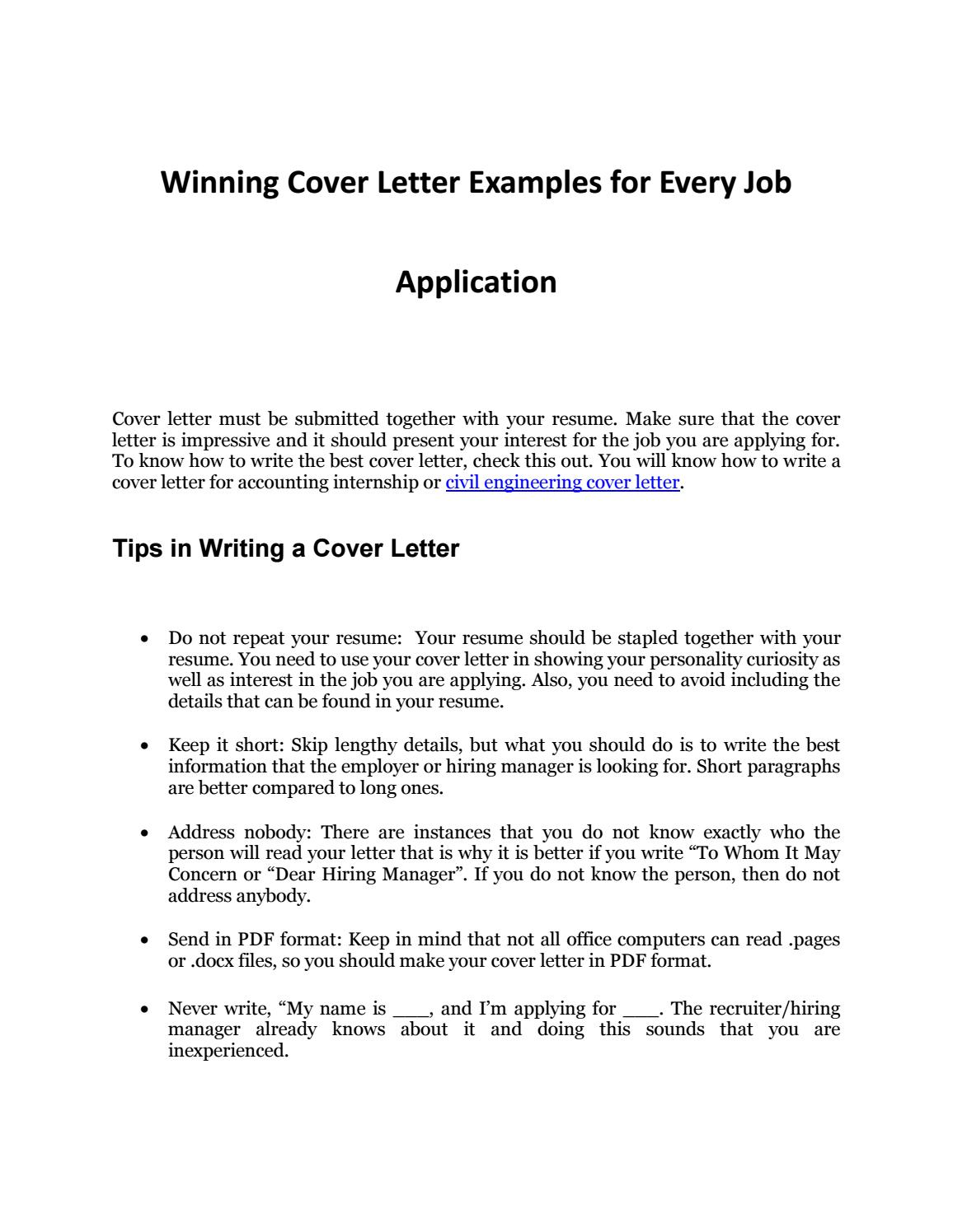 Do You Need Cover Letter For Internship from image.isu.pub