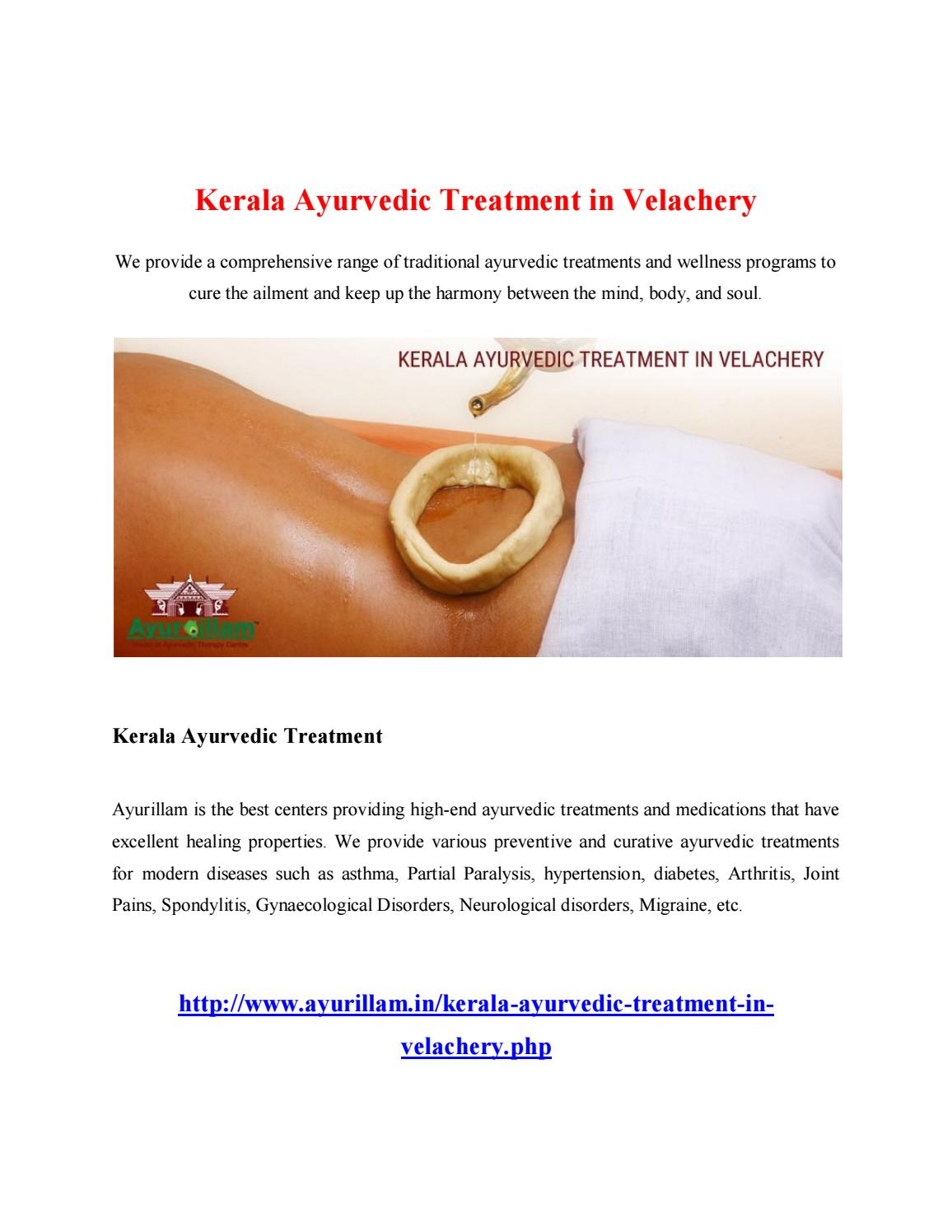 Kerala ayurvedic treatment in velachery by chdhanam - issuu