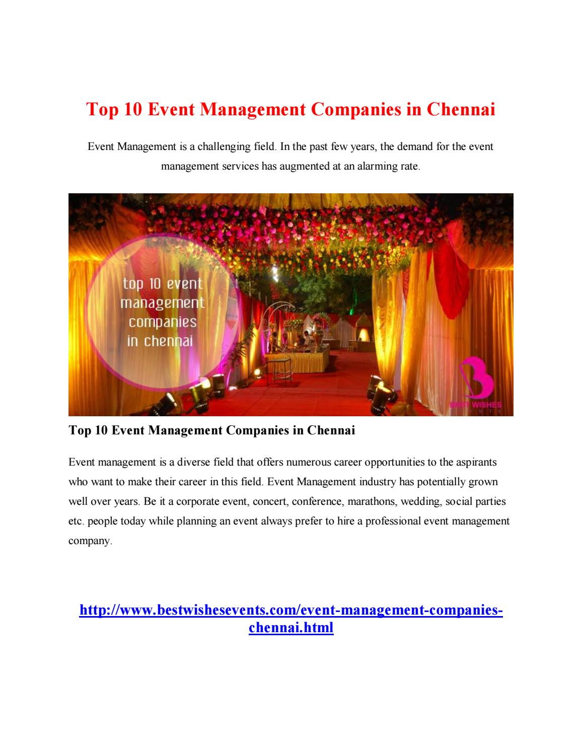 3 top 10 event management companies in chennai by