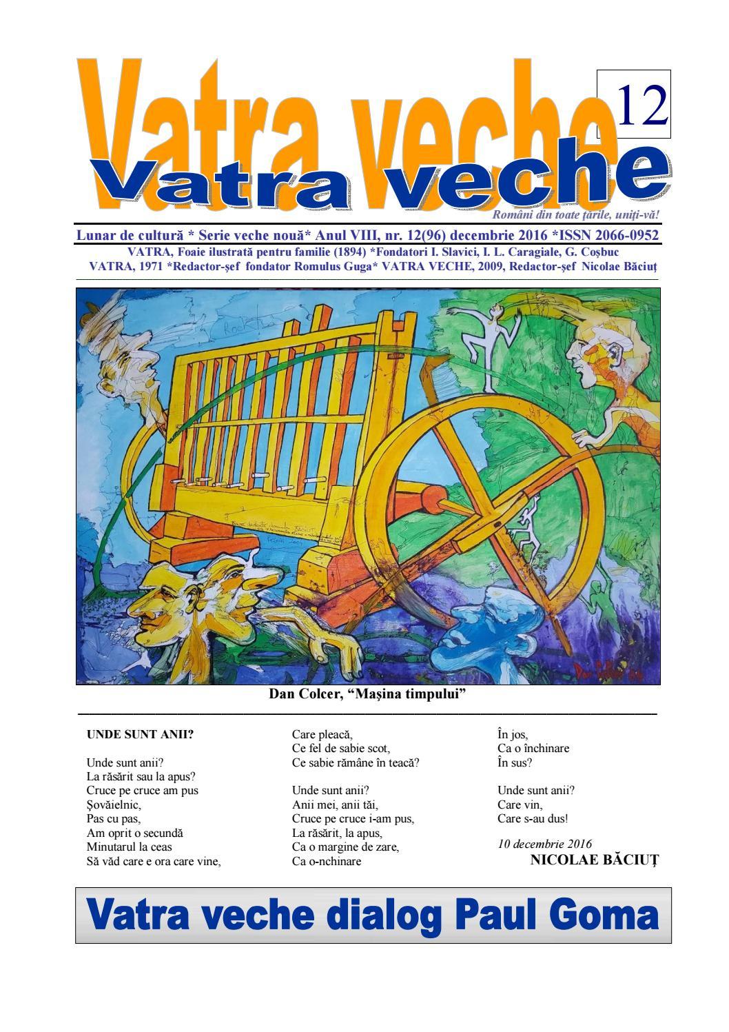 Vatra veche Nr  12 /2016 by Darié Ducan - issuu