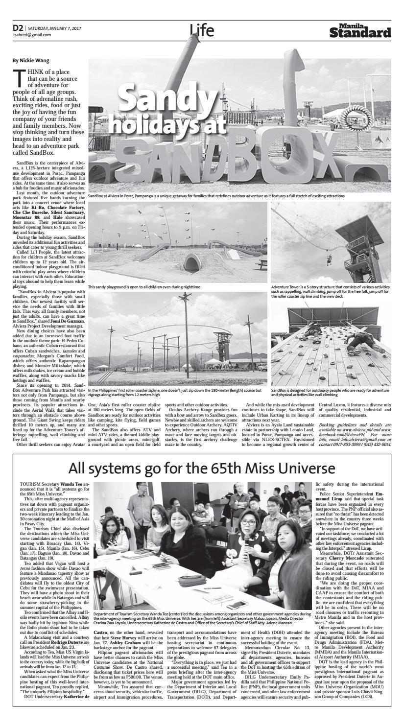 Manila Standard - 2017 January 07 - Saturday