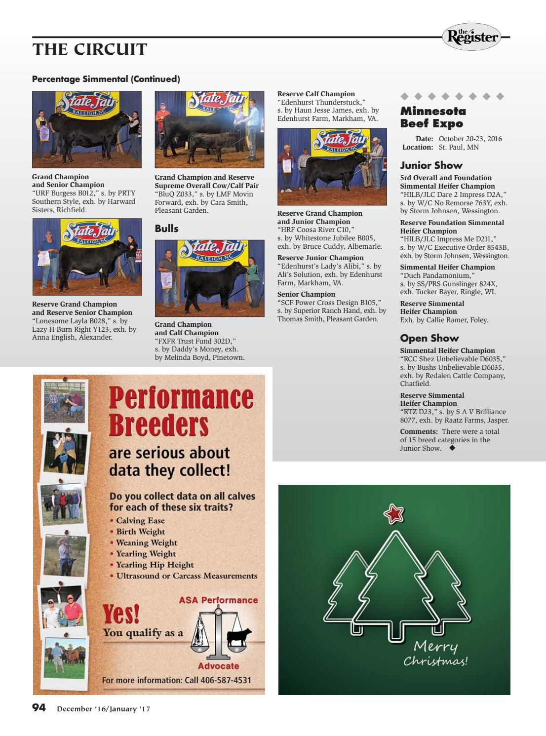 So Pleasant It Is To Have Money Heigh >> The Register December January 2017 By American Simmental