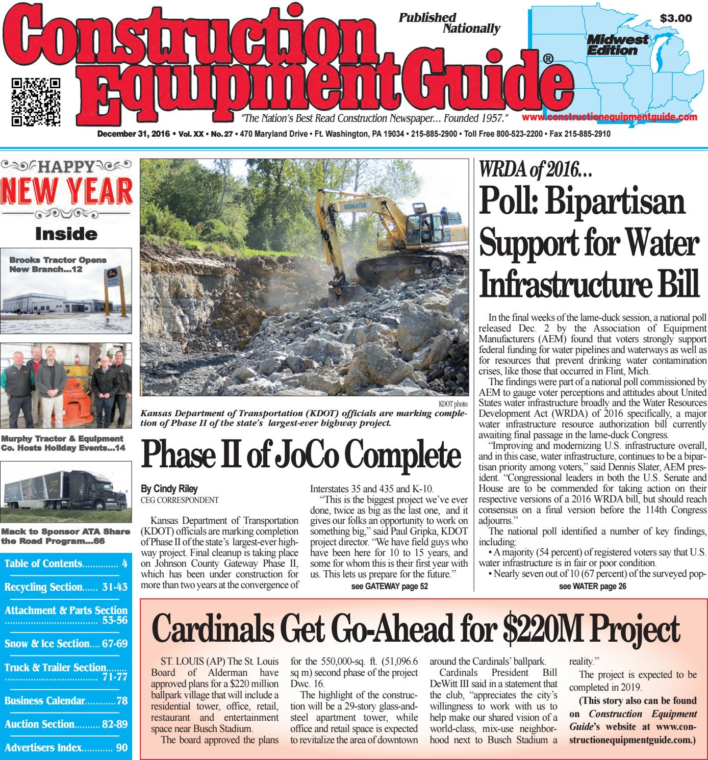 Midwest 27 December 31 2016 by Construction Equipment Guide issuu