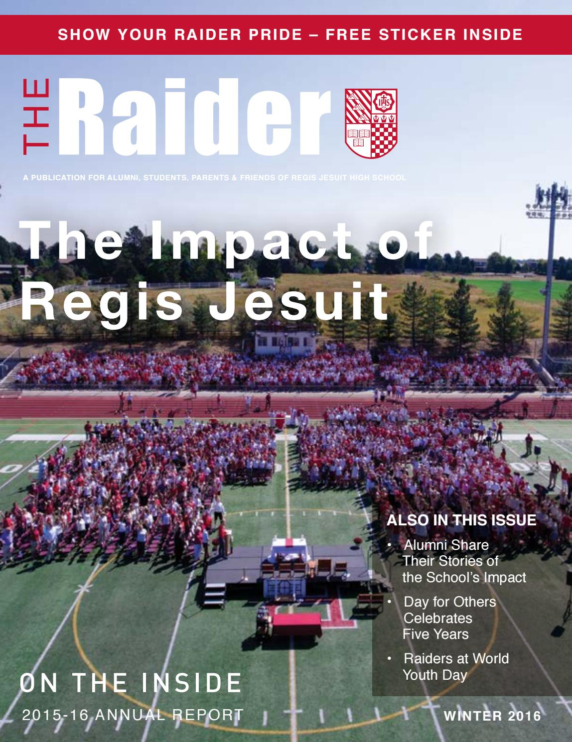 The Raider - Winter 2016 by Regis Jesuit - issuu