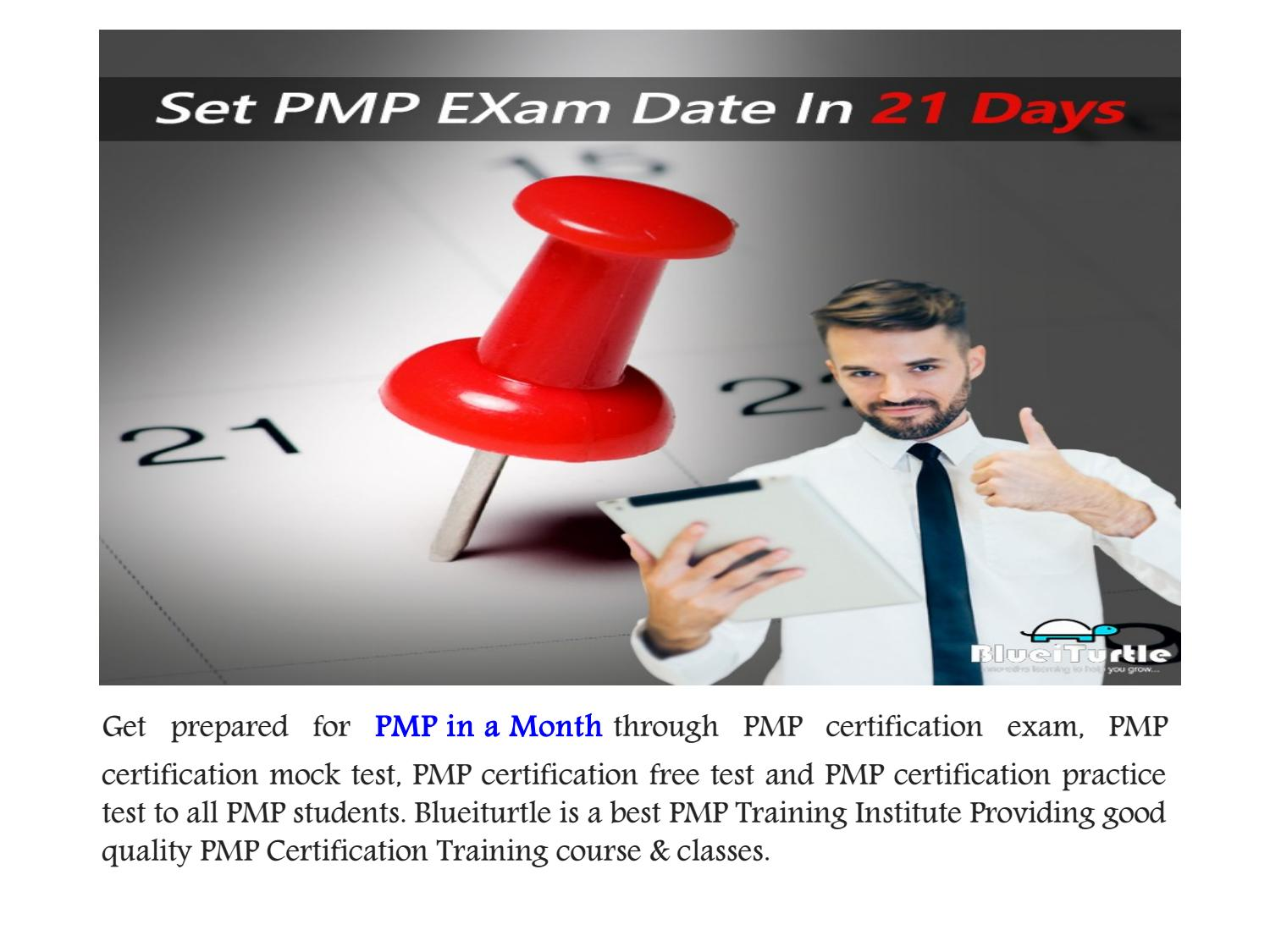Get Pmp Qualified By Preparing Pmp In A Month By Blueiturtle Issuu