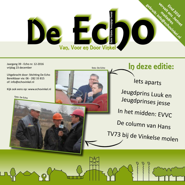cf7a13210eb5dc Echo - december 2016 by Echo vinkel - issuu