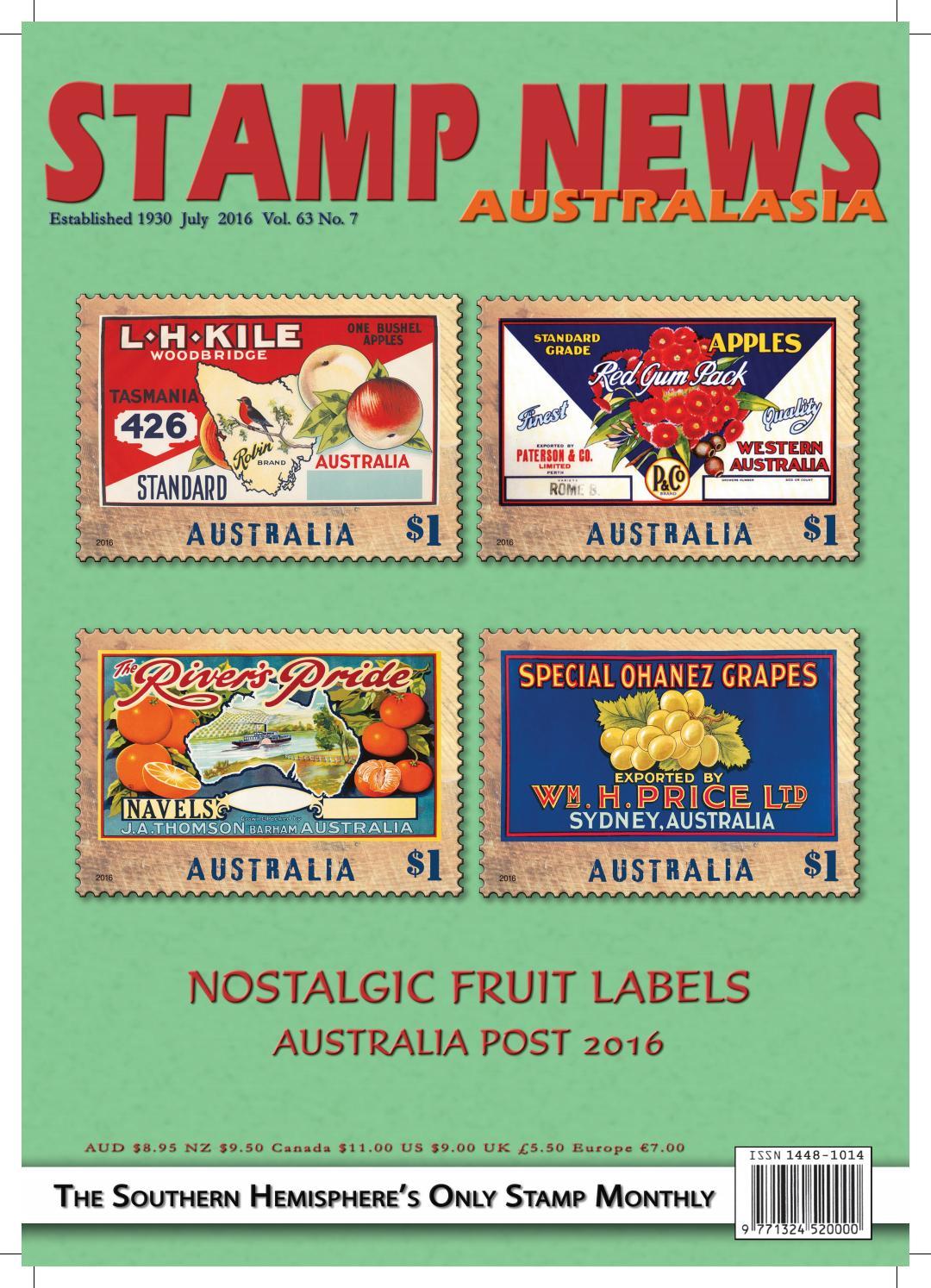 Stamp News Australasia July 2016 By Stamp News Australasia