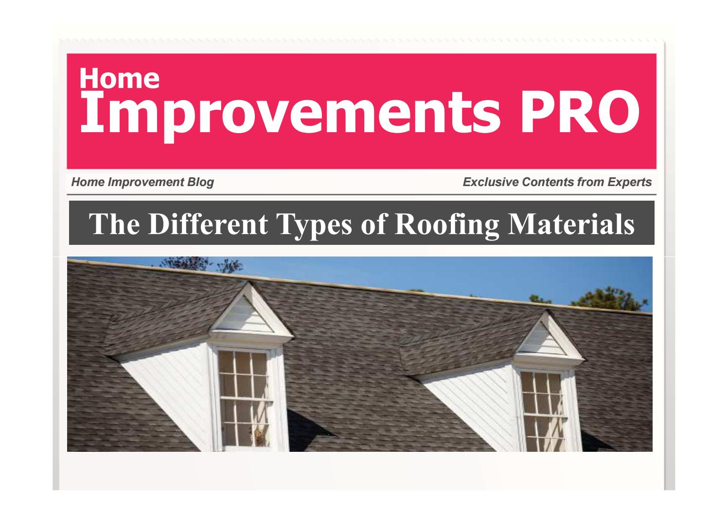 The different types of roofing materials ppt by vengat for Different types of roofing materials