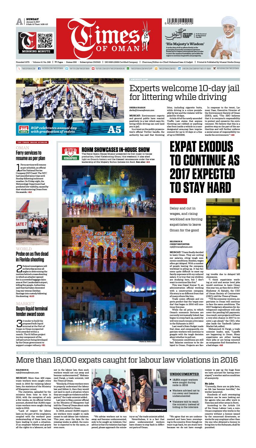 Times of Oman - January 8, 2017 by Muscat Media Group - issuu