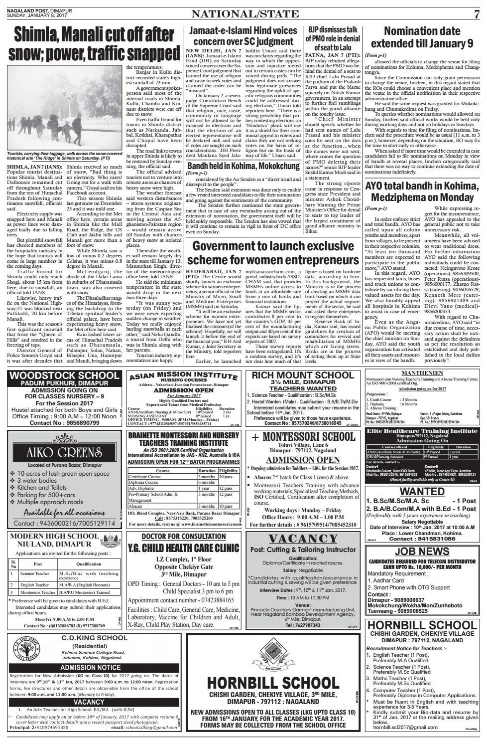 January 8, 2017 by Nagaland Post - issuu