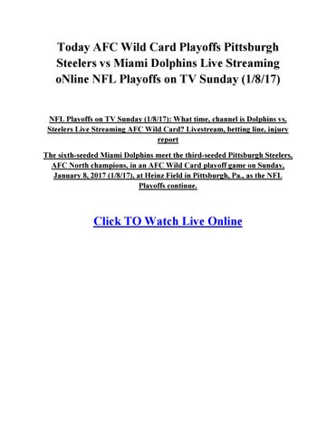 Today nfl playoffs tv schedule time channel dolphins ste by