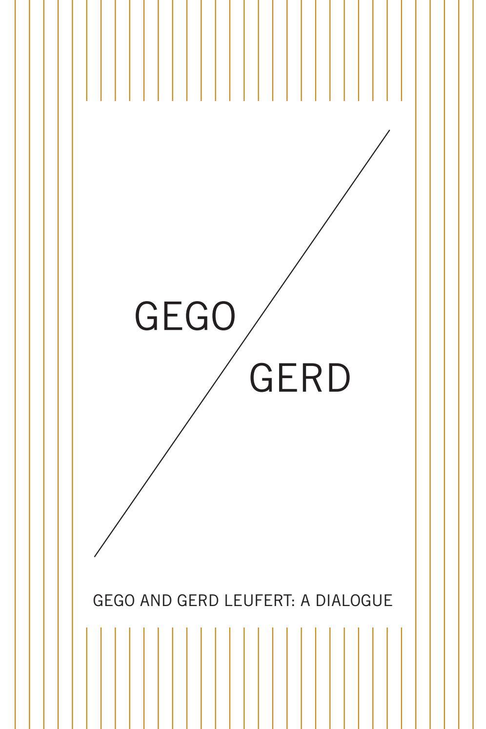 Gego & Gerd for Leubsdorf Gallery by Hunter College Art Galleries ...