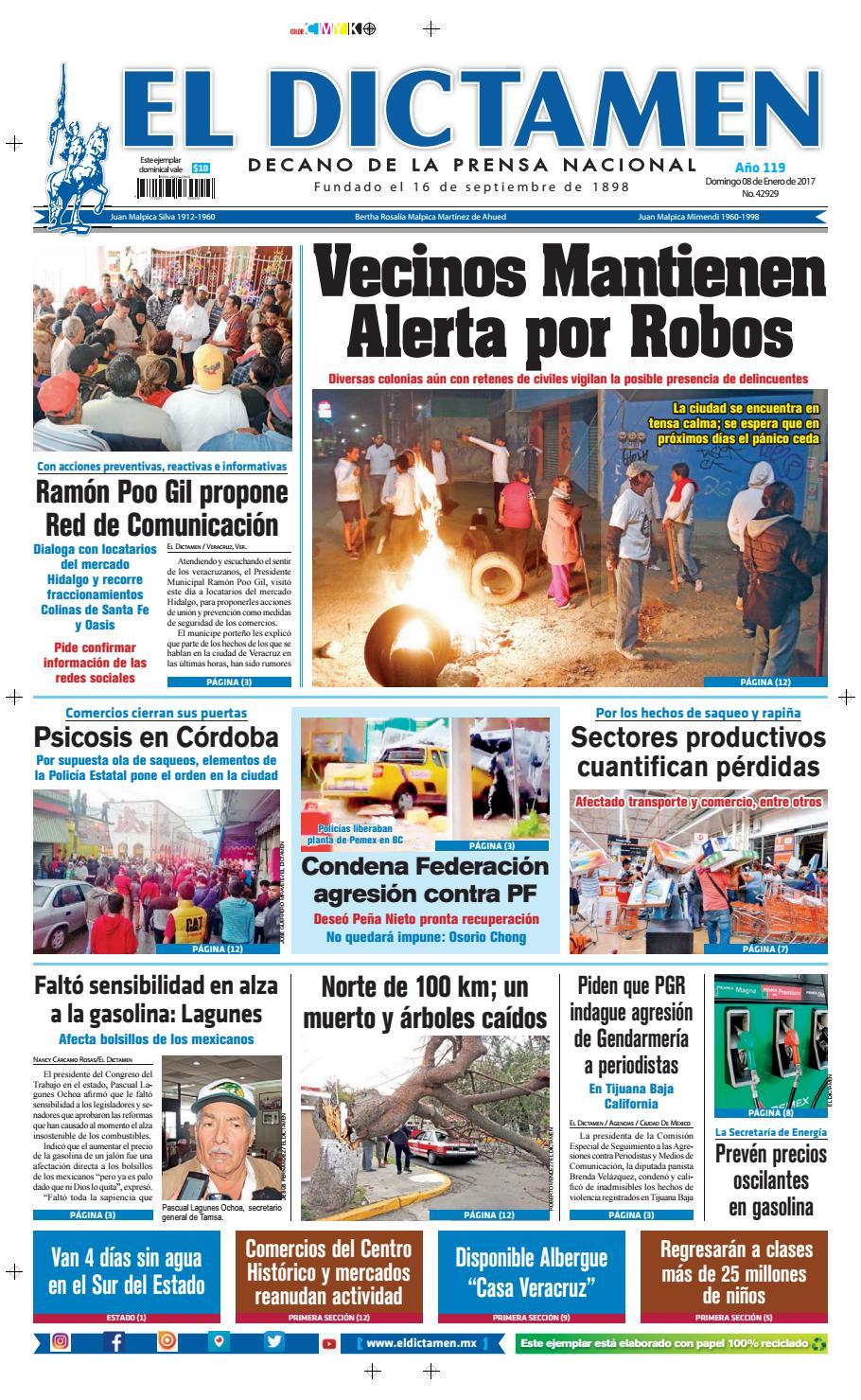 El Dictamen 08 de Enero 2017 by El Dictamen - issuu