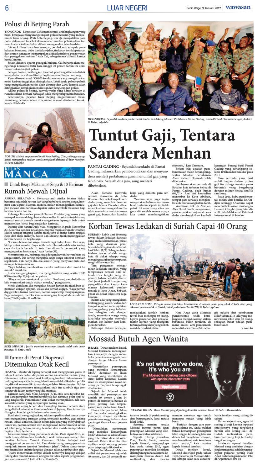 Wawasan 09 Januari 2017 By Koran Pagi Wawasan Issuu