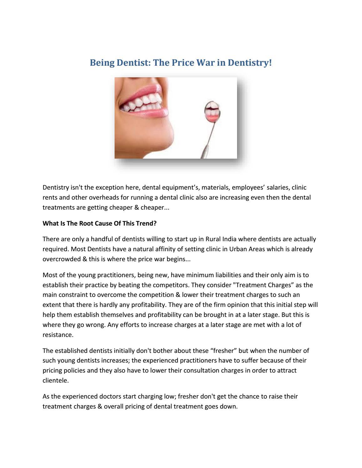 Being dentist by Shivanya Chavan - issuu