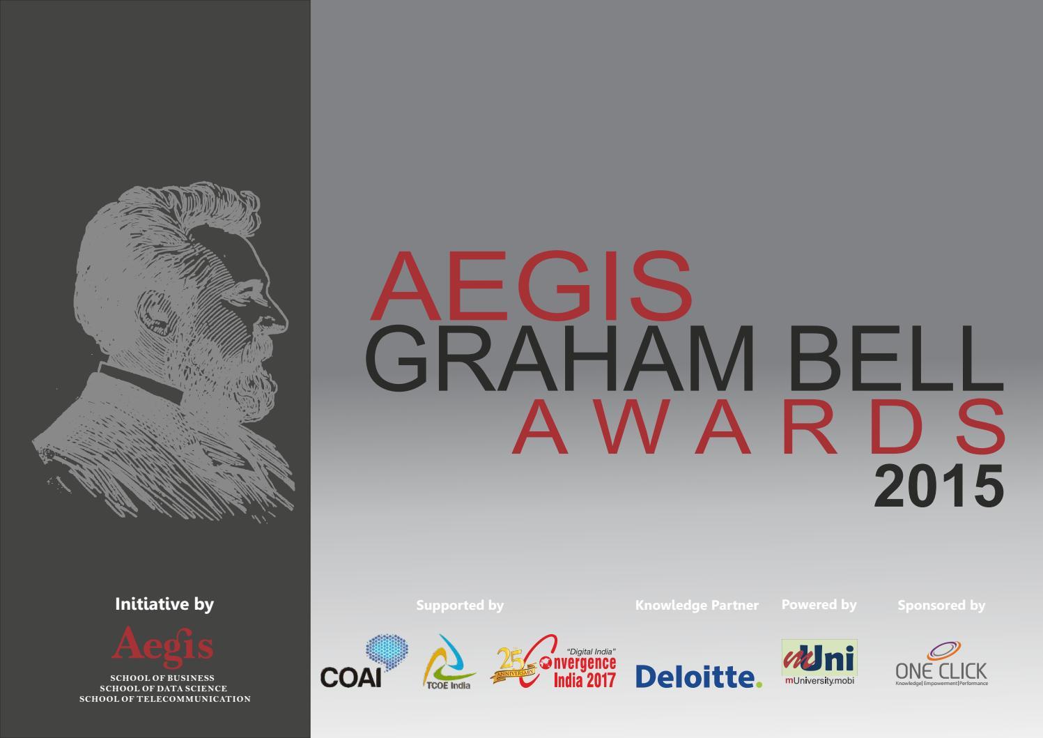 Aegis graham bell awards by Aegis Graham Bell Awards - Issuu