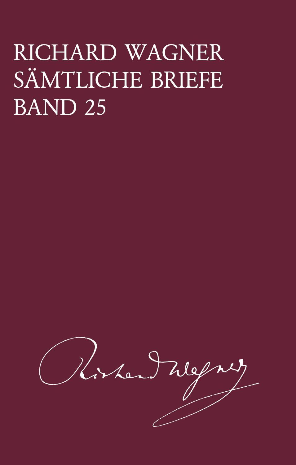 R303244der Weihnachten.Bv 425 Wagner Samtliche Briefe Band 25 By Breitkopf