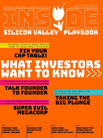 Silicon Valley Playbook by Royal Netherlands Embassy - issuu