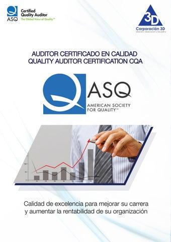 Brochure Certificación Auditor de Calidad by Connect - issuu