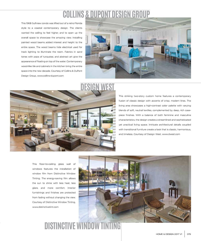 Collins & Dupont Design Group home & design magazine | 2017 southwest florida edition by