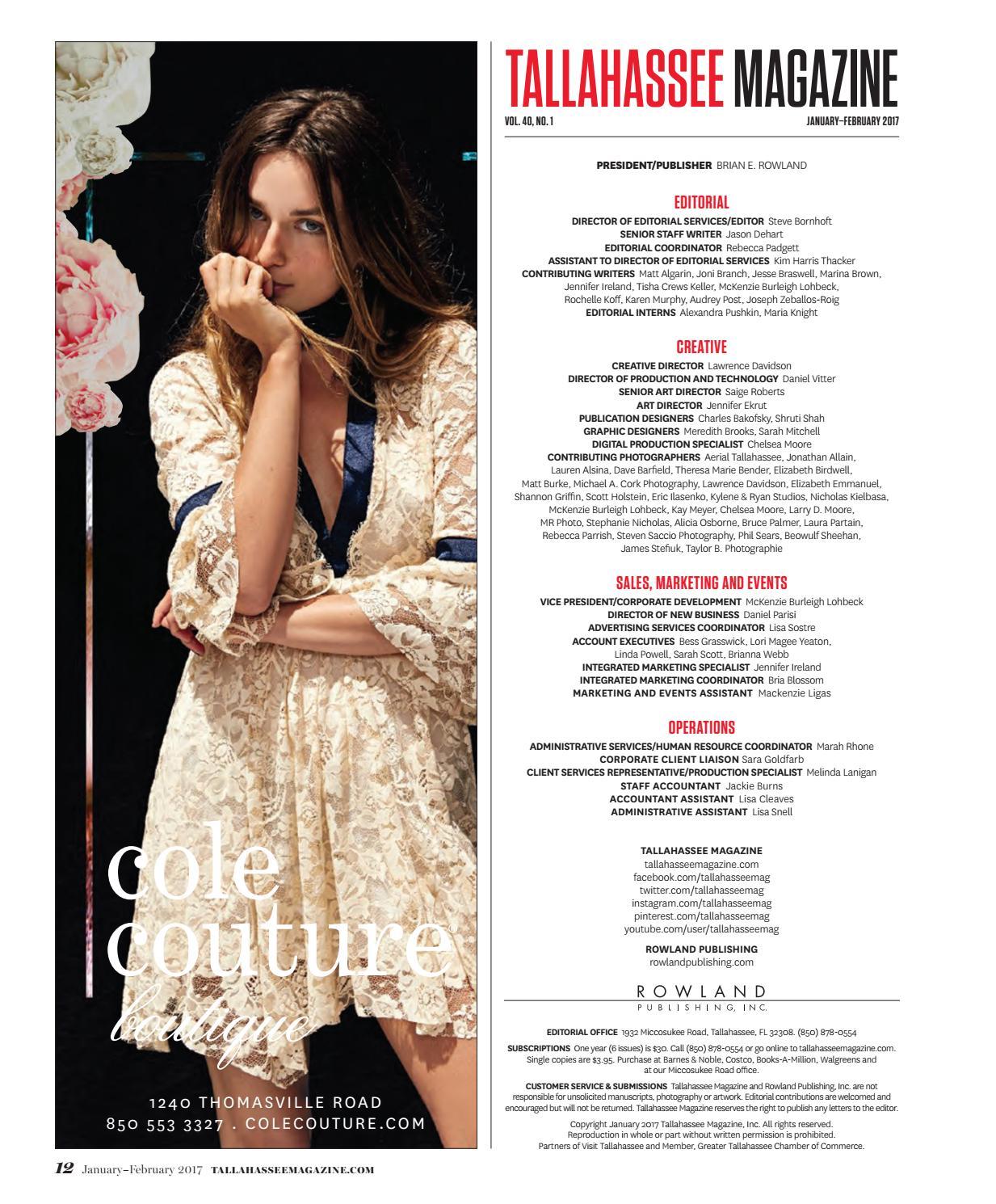 Tallahassee Magazine- January/February 2017 by Rowland