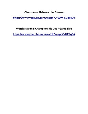 Watch National Championship 2017 Game Live By Sazid Akon Issuu
