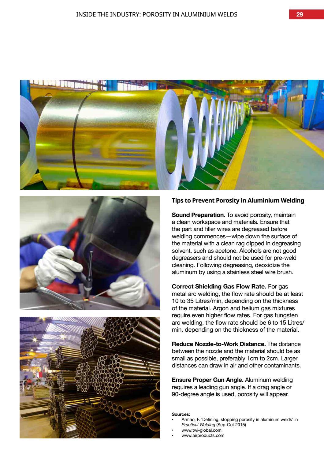 Reducing porosity in aluminium welds by Weld Australia - issuu