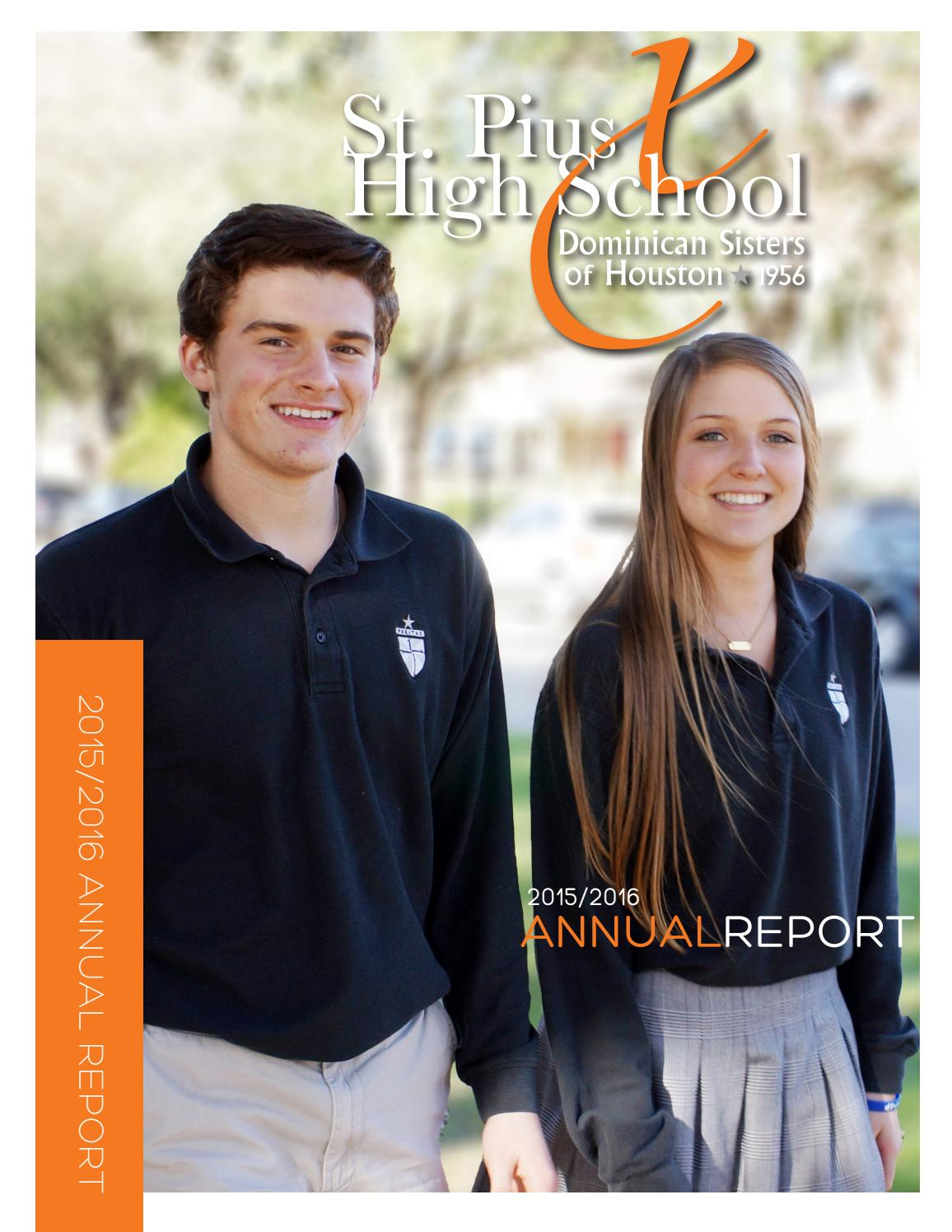 0df0740e889ac9 2015-2016 St. Pius X Annual Report by St. Pius X High School - issuu
