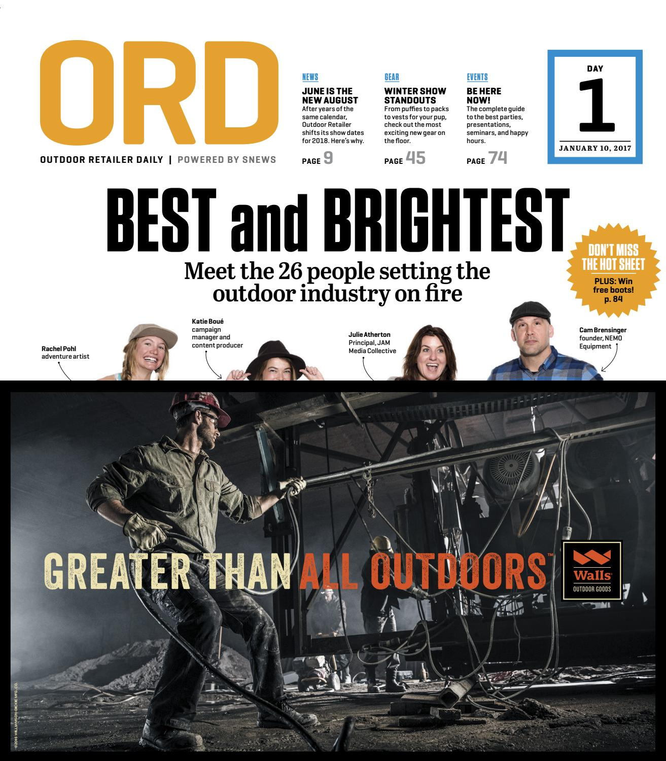 pretty nice e1b87 5ae1a Day 1 Outdoor Retailer Dailey Winter 2017 by Active Interest Media-Boulder  - issuu