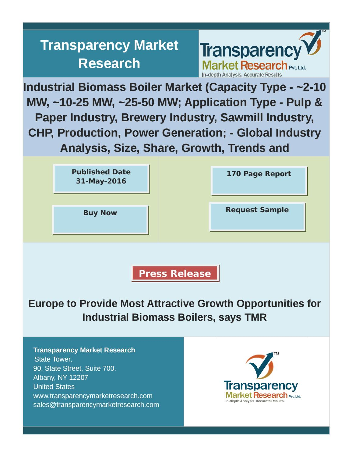 Industrial Biomass Boiler Market - Industry Analysis, Size, Forecast ...