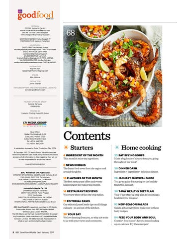 BBC Good Food ME - 2017 January by BBC Good Food Middle ...Food Magazine Table Of Contents