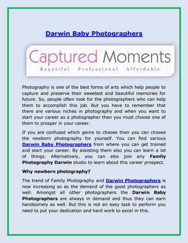 Darwin baby photographers by Captured Moments - issuu