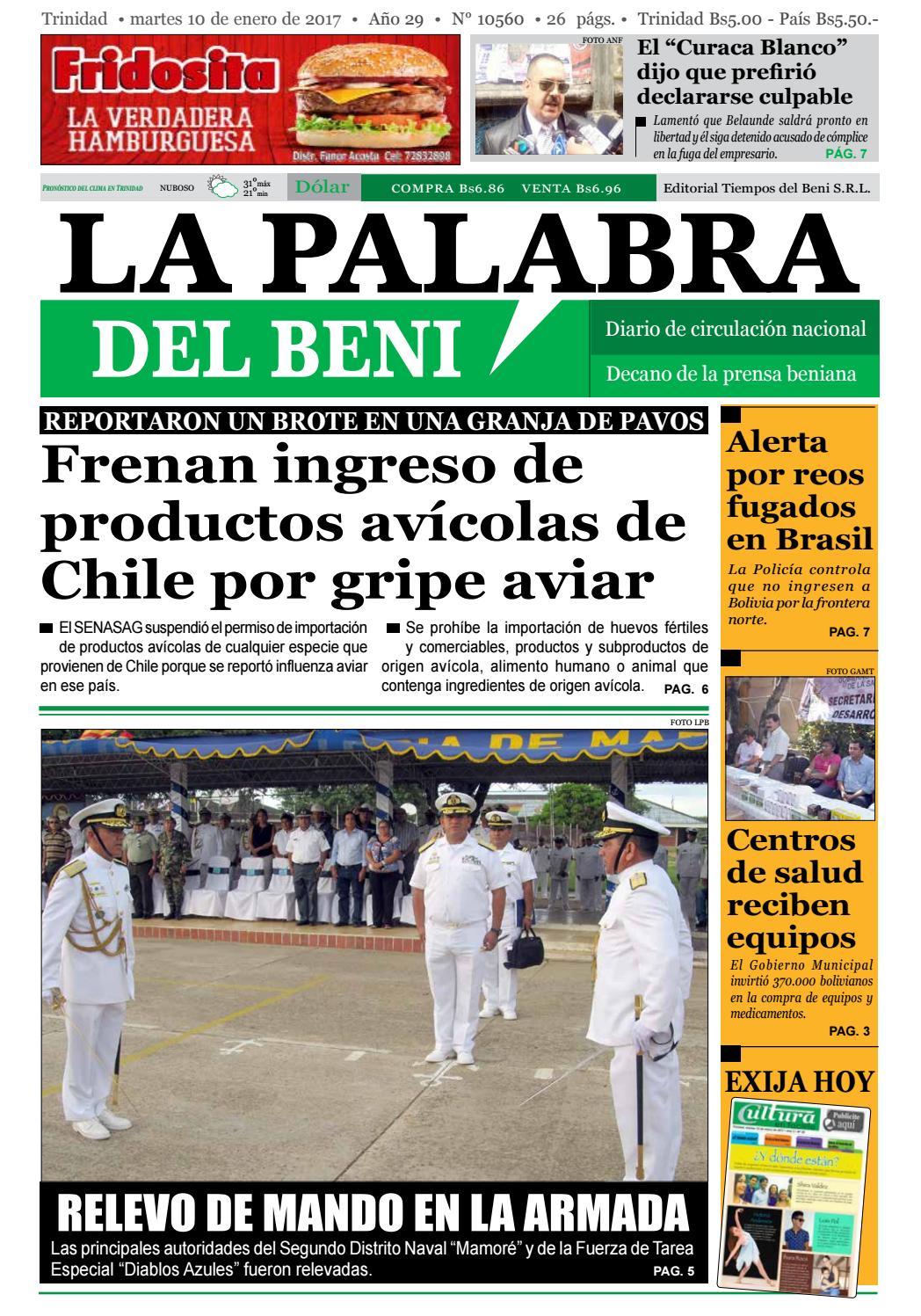 La Palabra del Beni, 10 de Enero de 2017 by La Palabra del Beni - issuu