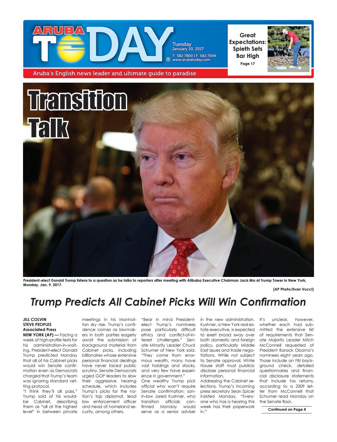 6e86dcadb64b0c January 10, 2017 by Aruba Today - issuu