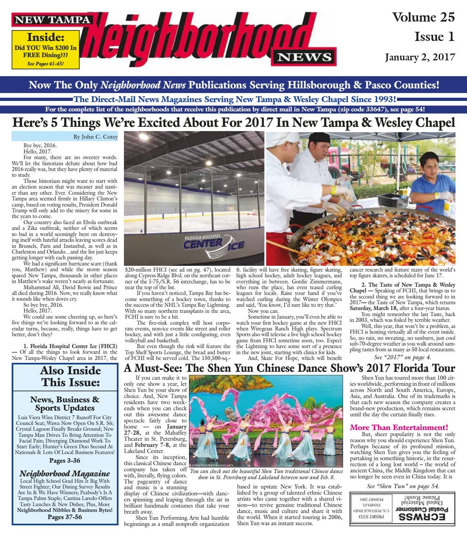 New Tampa Neighborhood News, Volume 25, Issue 1, Jan. 2, 2017 by ...
