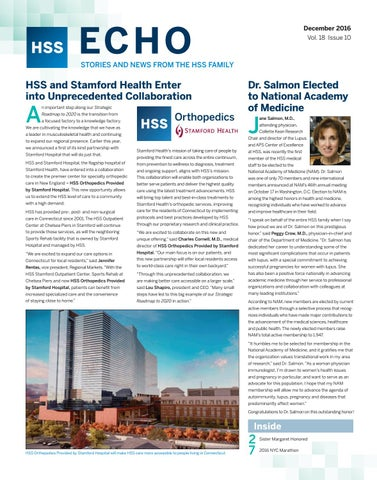 Hss Echo December 2016 By Hospital For Special Surgery Issuu
