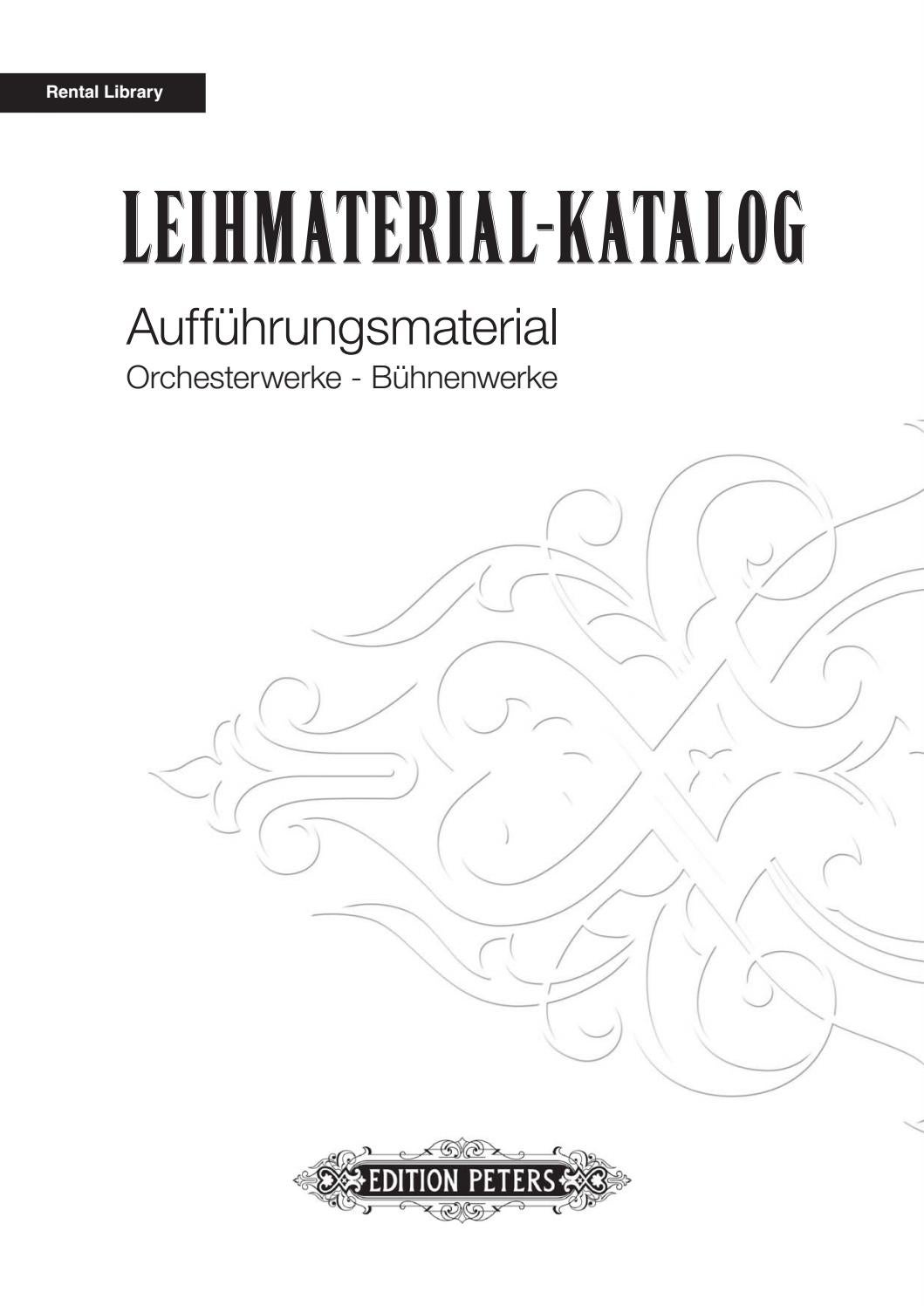 Edition Peters Leihmaterial-Katalog 2017 by Edition Peters - issuu