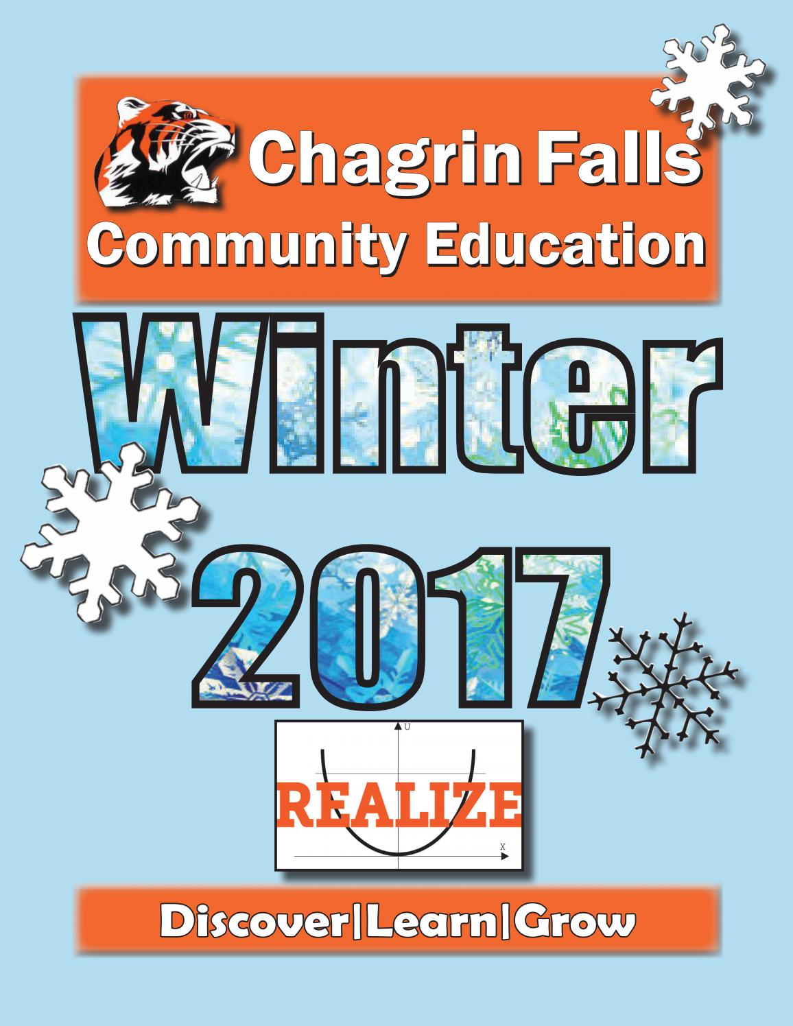 Cfce Winter 2017 Final By Chagrin Falls Community Education Issuu