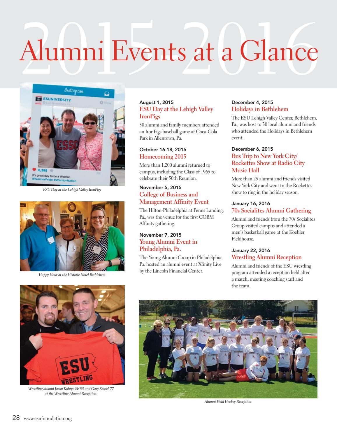 ESU Foundation 2015-2016 Annual Report by East Stroudsburg