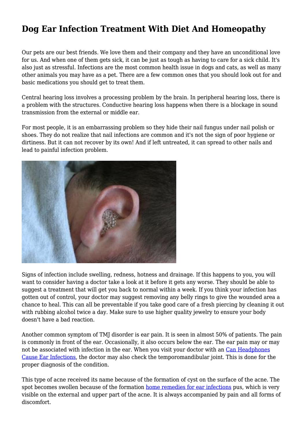 Dog Ear Infection Treatment With Diet And Homeopathy    by