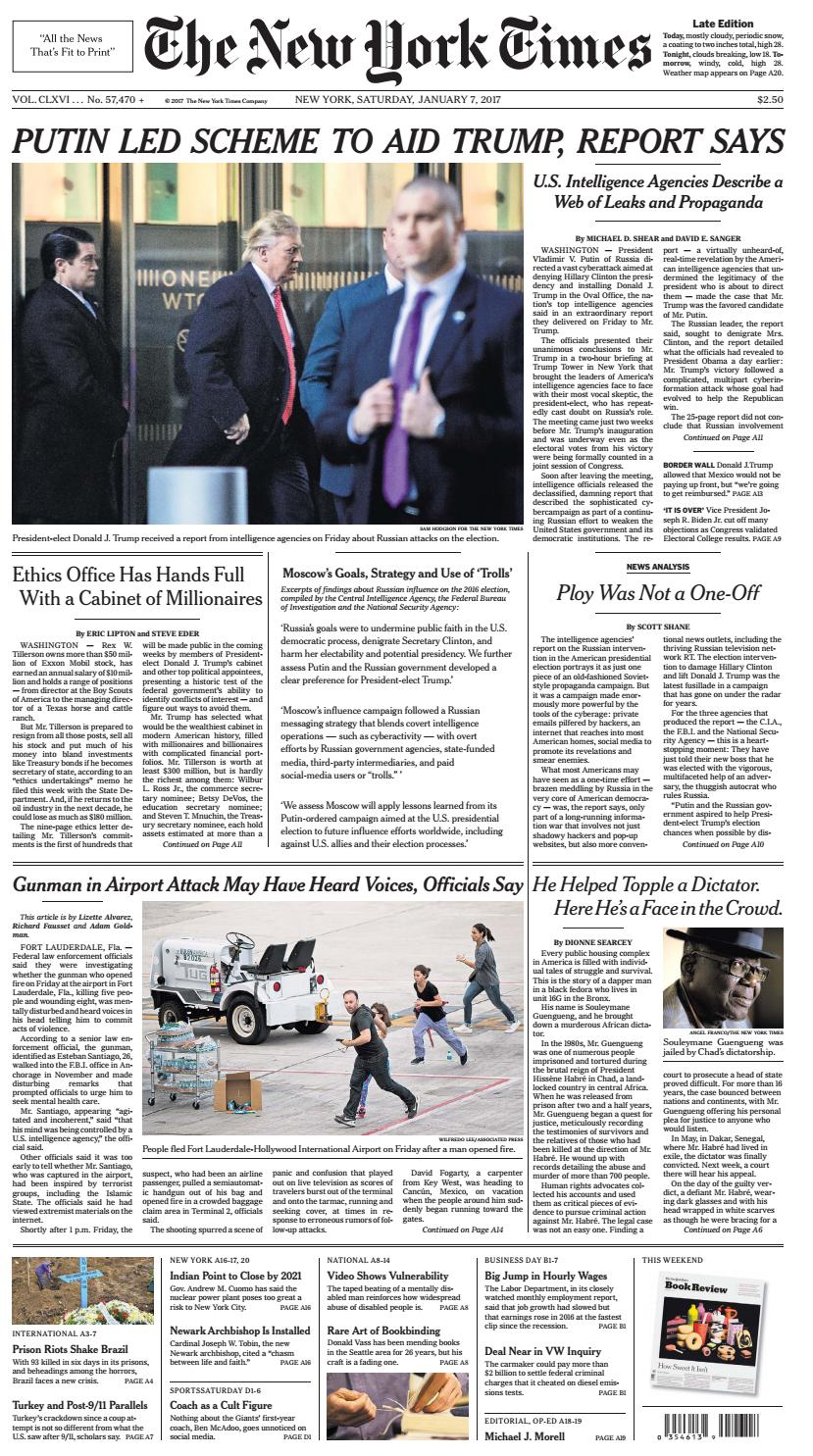 The new york times january 07 2017 by dfvdvfdfv - issuu