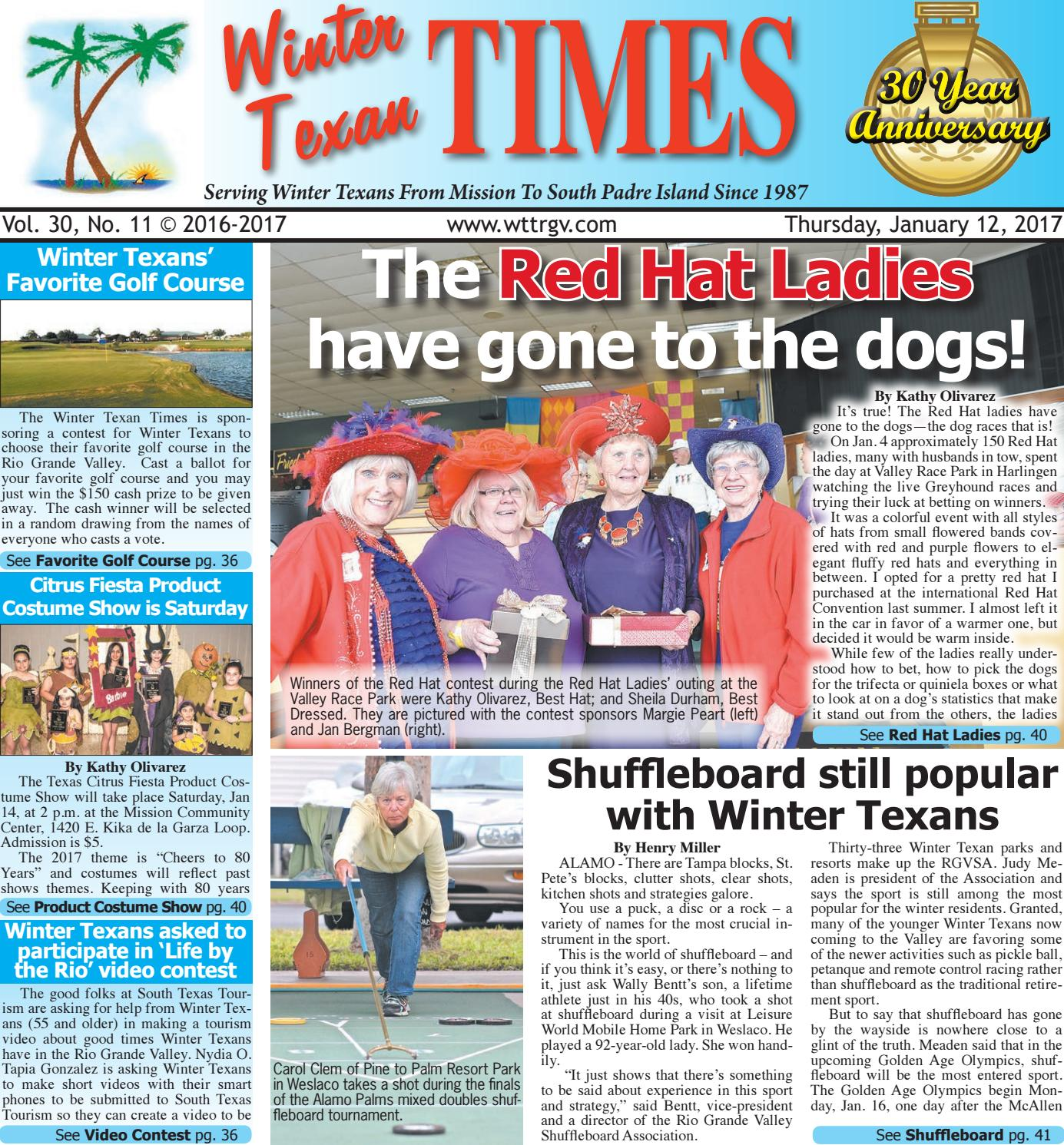 January 12 2017 Wtt Issue By Winter Texan Times Issuu