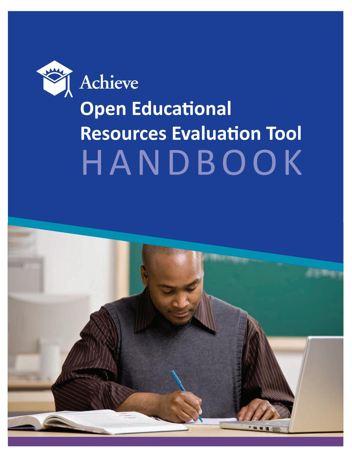 Achieve OER Evaluation Tool Handbook by Achieve, Inc  - issuu