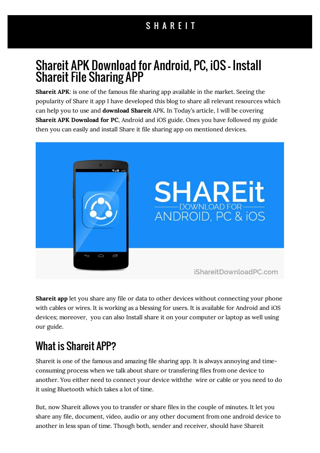 shareit app free download for pc
