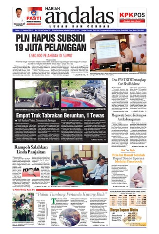 Epaper Andalas Edisi Rabu 11 Januari 2017 By Media Andalas Issuu