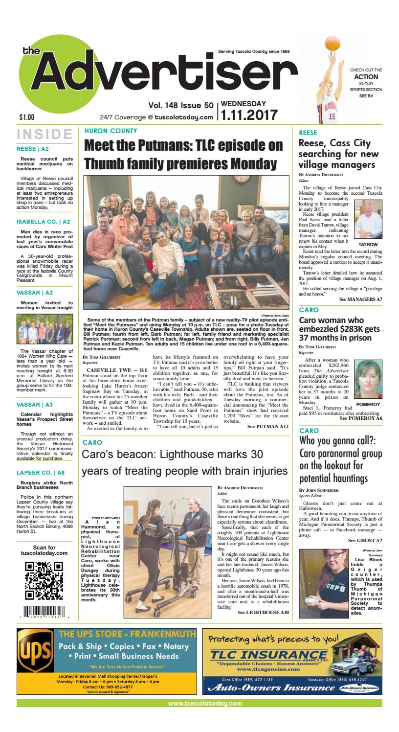 Tca 1 11 17 all pages by Tuscola County Advertiser - issuu
