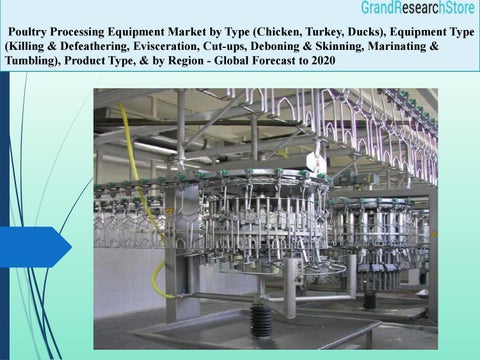 Poultry processing equipment market global forecast to 2020 by