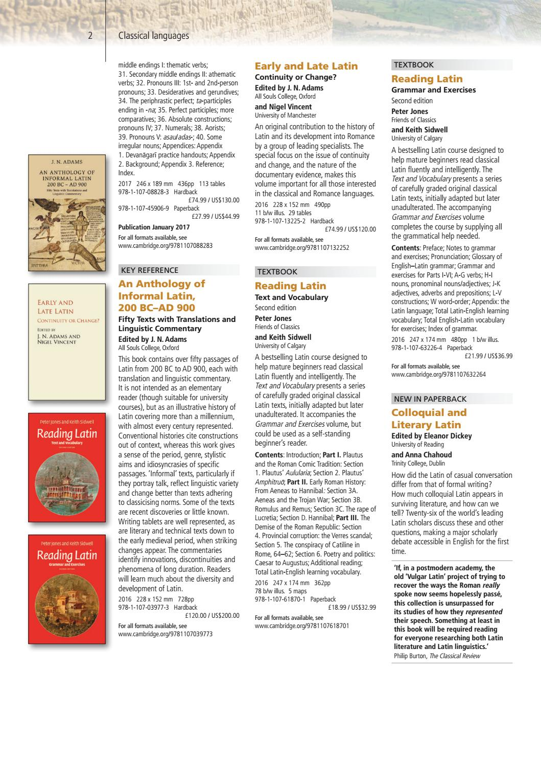 An Anthology of Informal Latin 200 BC-AD 900 Fifty Texts with Translations and Linguistic Commentary